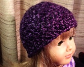 Deep Purple Warm and Cozy Hat for American Girl Doll