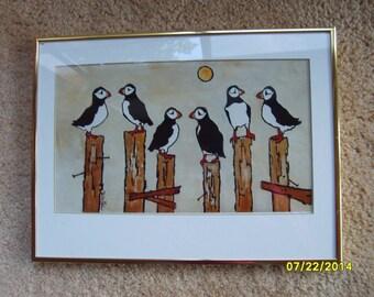 Painting, Framed Art, Ruth Volkmann, Northwest Artist, Bird Painting, Original Art, Bird Painting, Whimsical Painting