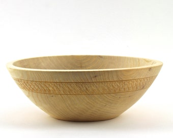 Wooden Hackberry Bowl Hand turned