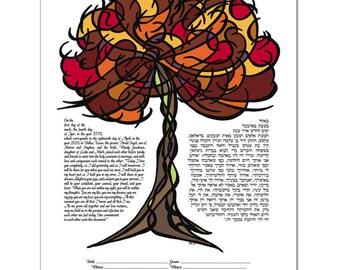 Ketubah: Tree of Life - Autumn
