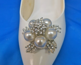 Bridal Shoe Clips, Crystal Shoe Clips, Pearl  Shoe Clips, Rhinestone  Shoe Clips, Wedding Shoe Clips