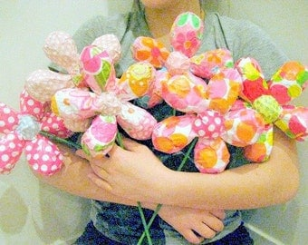 Paper Mache Flowers Made To Order - Size Small