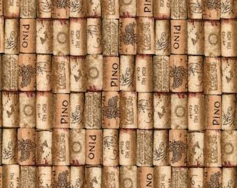 Italian Vineyard Corks - Elizabeth Studios - Half Yard