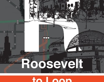 Cta green line etsy cta l stop sign roosevelt orange and green lines sciox Gallery