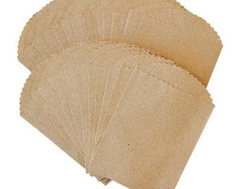 "Canvas Corp   Mini Paper Bags 2.5"" x 4""  Kraft Bag Flat"