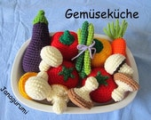 Vegetables Crochet Pattern Amigurumi PDF