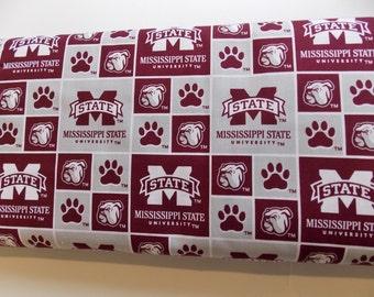 MSU fabric bulldogs- Mississippi State Fabric