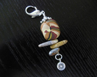 Picture Jasper - Zipper Pull, Purse Charm
