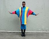 80s Neon Sweater Dress Medium