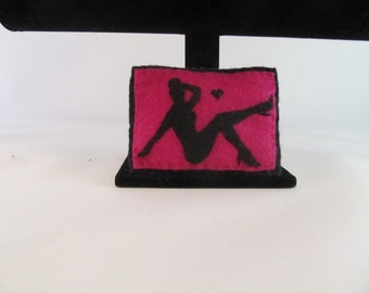 Pin Up Girl Sachet-Sachet-Felt Sachet-Orange Cinnamon Sachet-Rockabilly