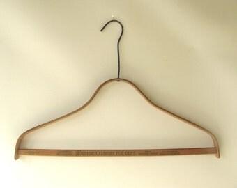 Vintage wood advertising hanger