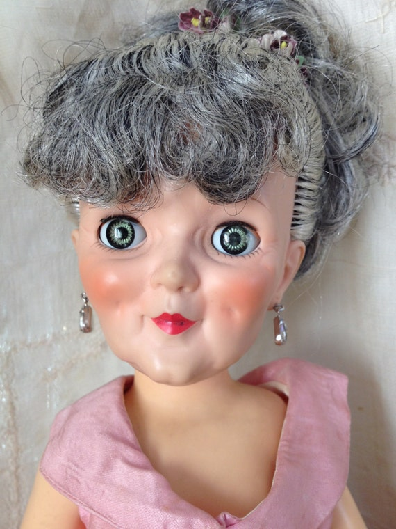 1960s Old Lady Doll With Jowls Grannykins Made By A Royal