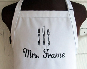Personalized Apron for the chef - Customized apron with name