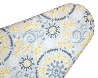 Standard Ironing Board Cover -Shades of Grey and Yellow