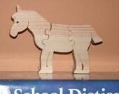 Unicorn Puzzle - Kid's Toy - Wooden Animal Puzzle - Easy Child's Puzzle - Child's Decor