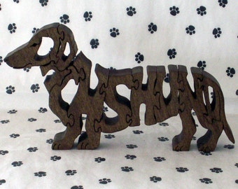 Dachshund Handmade Fretwork Jigsaw Puzzle Wood Dog