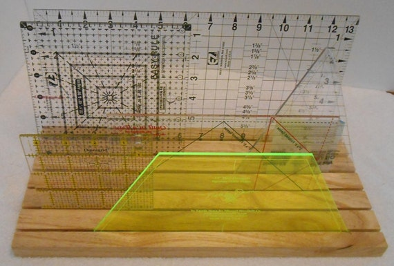 Handmade Ash Template and Ruler Holder by JDHomeGallery on Etsy