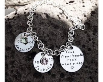 Mother's Day: Personalized Hand Stamped bracelet
