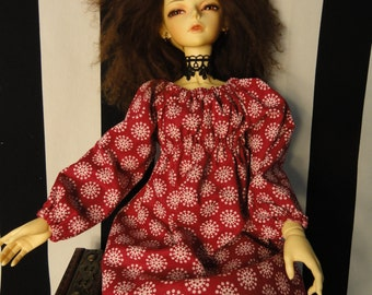 SD BJD Dollfie Chemise Dress and Bloomers Rose