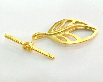 2 Gold Toggle Clasp  Gold Plated Findings 2 sets (36x20 and 30x3 mm)  ,  G2747