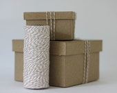 Pale Kraft Brown & White Bakers Twine - 10 metres - Perfect for Gift Wrapping or Crafts