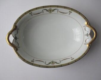 Vintage Noritake Sahara Pink Gold Serving Bowl