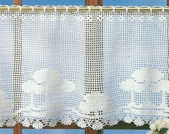 Crochet Lace Curtain/Valance - Forest