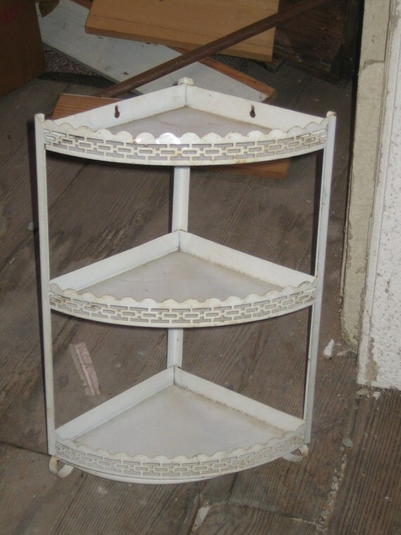 Shelving metal shelf corner shelf shabby shelving unit for Metal bathroom shelving unit