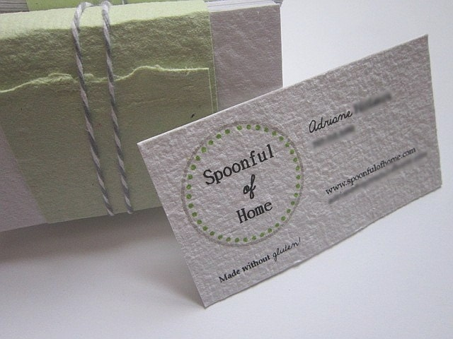 Custom Business Cards Handmade Paper Business by Elo sShop