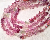 SUPERB, Natural MULTI SAPPHIRE Faceted Pear Briolettes,7-8mm, Super Finest Quality, 1/2 Strand.