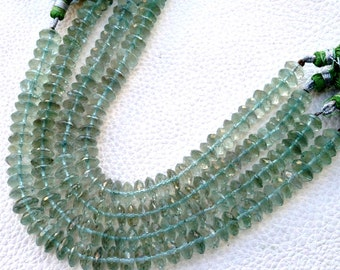 8 Inch Strand, aaa GREEN AMETHYST Faceted GERMAN Cut Rondelles, 8-9mm size,Superb Quality,Amazing