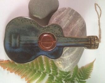 Pottery Acoustic Guitar Ornament