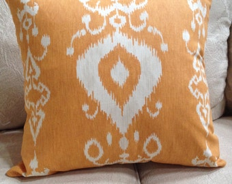 "Savelle/Tullahoma Ikat/Copper Pillow Cover/ 2 available /20"" x 20"""