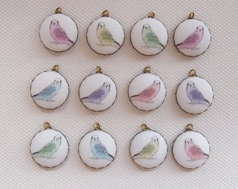 Budgie Charms DIY Kit Jewellery Making Fabric Charms Kit