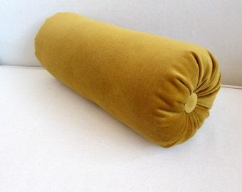 ANTIQUE GOLD decorative designer bolster pillow 6x14 6x16 6x18 6x20 6x22
