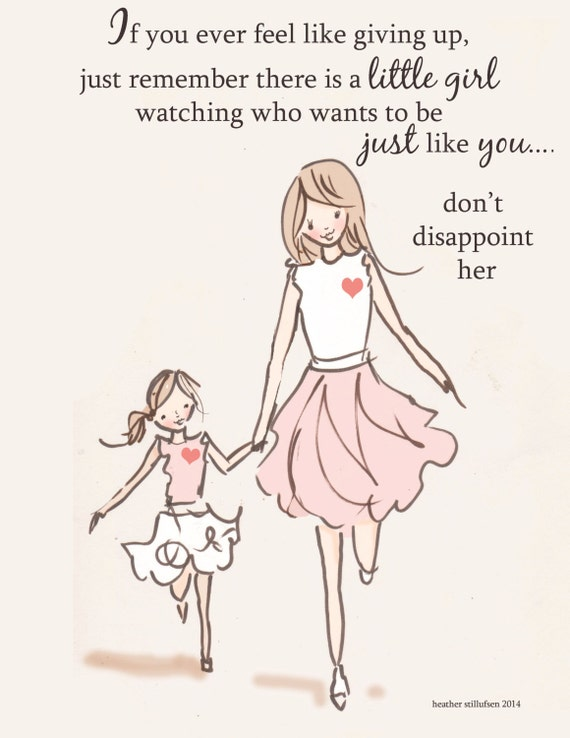 Mom and Daughter Art Art for Moms Inspirational Art for