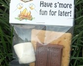 S'more Treat Bag Toppers ~ Printable gift labels