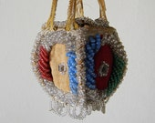 antique SMALL beaded purse