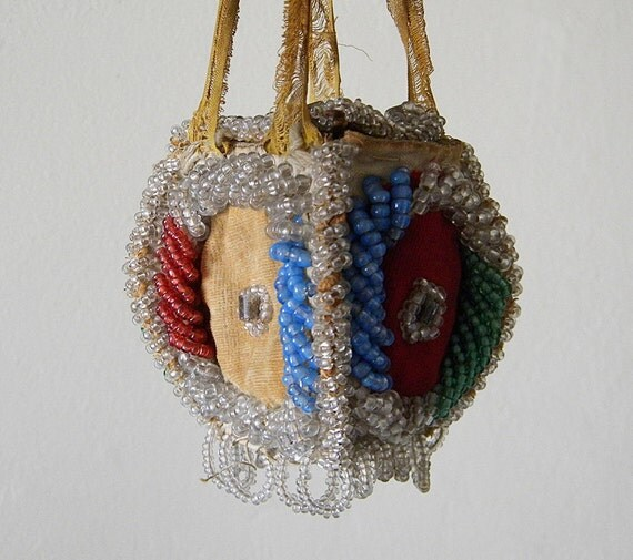 antique small beaded purse by thehopetree on etsy