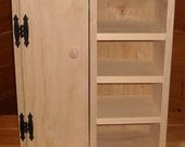 Handmade Wardrobe Cabinet with Shelves for 18 inch Doll