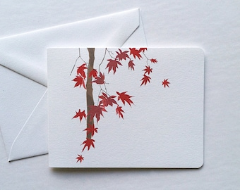Japanese Maple Boxed Note Cards