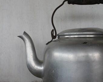 Vintage Aluminum Tea Kettle
