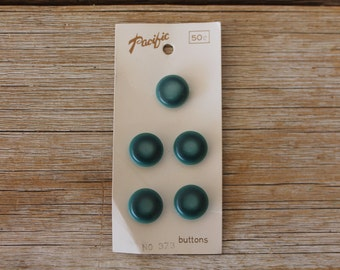 Vintage Pacific Button Cards No. 373, Dark Teal/Turquoise