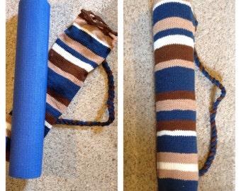 Custom Knit Yoga Mat Bag