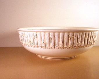 Vintage Copeland Spode Bamboo Basin Ivory Body Pratt Bowl Asheburne