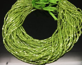 1strand - natural peridot faceted post  sized 3 by 5mm