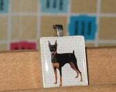 Doberman Pinscher Scrabble Tile Pendant