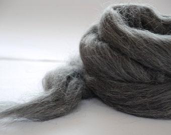 ALPACA FIBER  - silver grey
