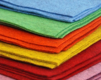 100% Pure PATCH FELT Wool Sheets 20 x 30cm - 1mm thick- Choose your own colours - 6 colours available