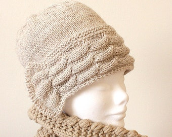 Knitting Pattern  Hat #2/cable pattern/alpaca yarn  (pdf file) (sizes - toddler; child; adult)